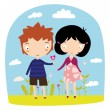 Boy love girl — Stock Vector #57814643