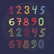Colored numbers set — Stock Vector #57815215