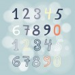 Colored numbers set — Stock Vector #57816471