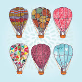 Patterned air balloons set — Stock Vector