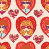 Love carnival seamless pattern — Wektor stockowy