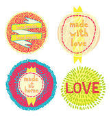 Nice labels for handmade set — Stock Vector