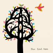 Jolly tree background — Stock Vector