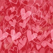 Cute seamless pattern with transparent hearts — Wektor stockowy