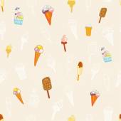 Pattern with ice cream — Stock Vector
