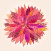 Big beautiful abstract pink flower — Stock Vector