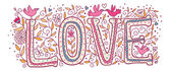 Love in pink color — ストックベクタ