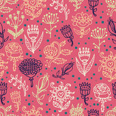 Cute flowers seamless pattern — Stock Vector