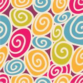 Colored swirls seamless pattern — Stock Vector