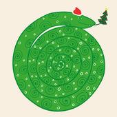 Christmas snake — Stock Vector