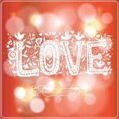 Love shining on blurred background — ストックベクタ