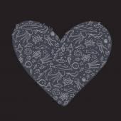 Night heart of the ocean — Stockvector