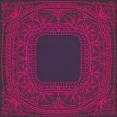 Pink frame in Indian style — Stock Vector