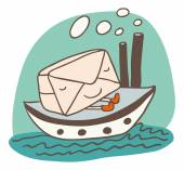Maritime shipping — Stock Vector