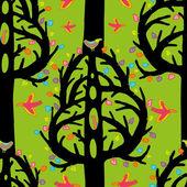 Jolly tree seamless pattern — Stock Vector