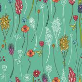 Herbarium of flowers — Stock Vector