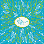 Güzel mavi arka plan ile kuş — Stok Vektör