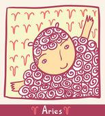 Horoscope. Aries. — Stock Vector