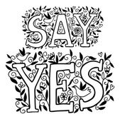 Say yes outline. — Stockvektor