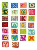 颜色字母表 — 图库矢量图片