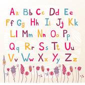 ładny kolorowy alfabet — Wektor stockowy