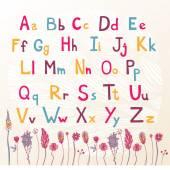 Cute colored alphabet — Stock Vector