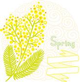 Mimosa spring background — 图库矢量图片