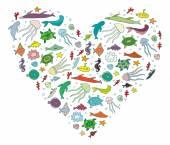 Serce oceanu — Wektor stockowy