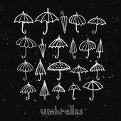 Umbrellas collection — Stock Vector