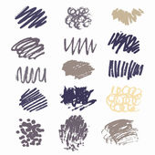 Gray and purple scribble collection — Stock Vector