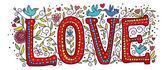 Love in color — ストックベクタ