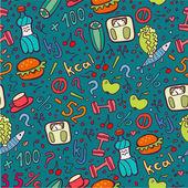 Diet blue seamless pattern. — Stock Vector