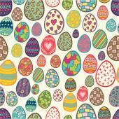 Ornamented eggs seamless pattern — Stock Vector