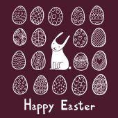 Burgundy Happy Easter background — Stock Vector