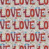 Vintage color love seamless pattern — Stockvector