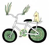 I love bikes! — Stock Vector