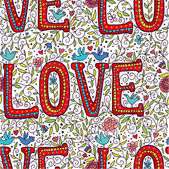 Color love seamless pattern — Wektor stockowy