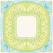 Frame in Indian style. — Stock Vector