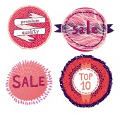 Pink labels template set — Stock Vector