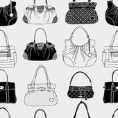 Black and white bag pattern — Stock Vector
