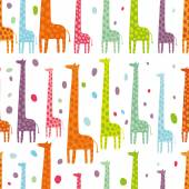 Beautiful giraffes seamless pattern — Stock Vector
