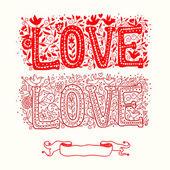 Cartão de amor amor vermelho — Vetor de Stock