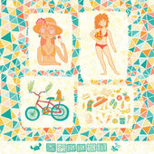 Nice summer collection — Stock Vector