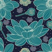 Lotus seamless pattern — Stock Vector