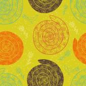 Beautiful snake seamless pattern — Stock Vector