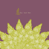 Green tea purple background — Stock Vector