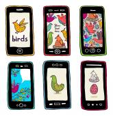 Birds in your smartphone. — Stockvektor
