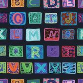 Alphabet, seamless pattern — Stock Vector