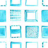 Collection of blue squares — Stock Vector