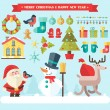 Merry christmas. Vector winter icons and elements — Stock Vector #57803167